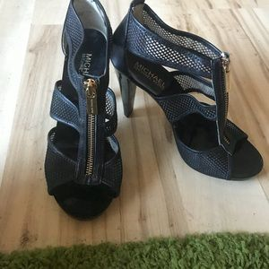Michael Kors zipper heels
